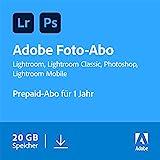 Adobe Creative Cloud Foto-Abo mit 20GB: Photoshop und Lightroom | 1 Jahreslizenz | PC/Mac Online Code & Download